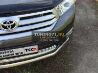 Решётка радиатора 12 мм Toyota Highlander 2010